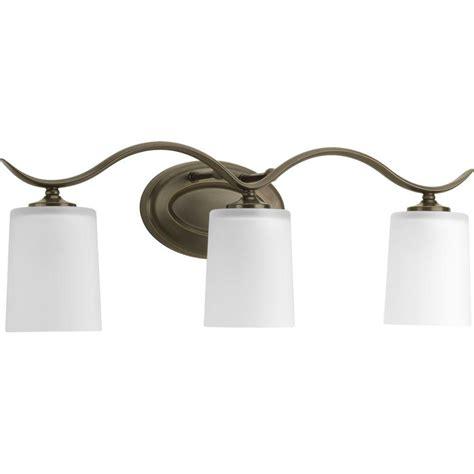 home depot lighting fixture progress lighting inspire collection 3 light antique