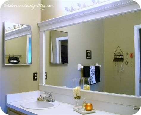 bathroom mirrors with frames bathroom mirror framed with crown molding hometalk