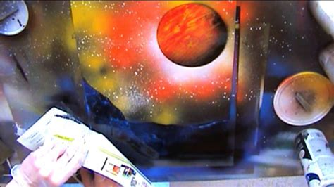 spray paint tutorial spray paint live tutorial trees planets and ground