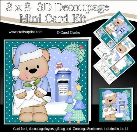 3d decoupage kits 8x8 livvy santa letter fight mini kit 3d