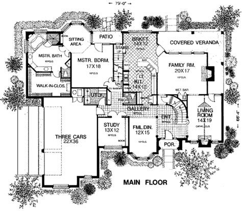 Floor Pl house plan 98539 at familyhomeplans com