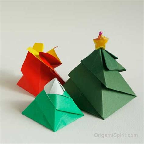 origami swirl one origami box three variations flower snow mountain