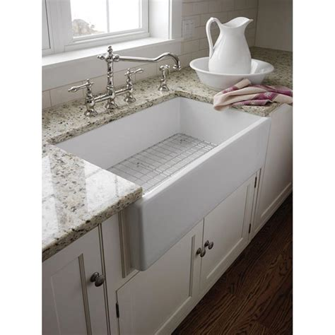 farmer sink kitchen pegasus farmhouse apron front fireclay 30 in single basin