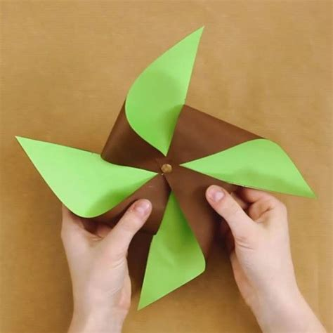 colour paper craft crafts and activities two colored paper pinwheel