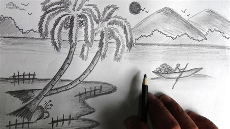 drawing for beginners easy landscape drawing for beginners images