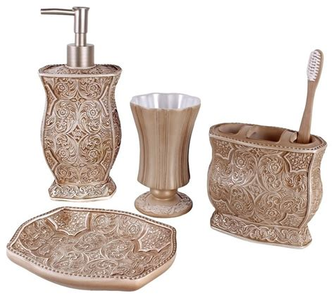 bathroom accessory set 4 bath accessory set contemporary