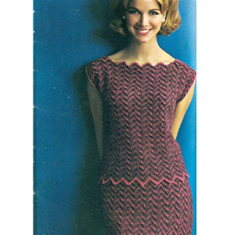 knitted dress patterns knitted chevron pattern dress a knitting