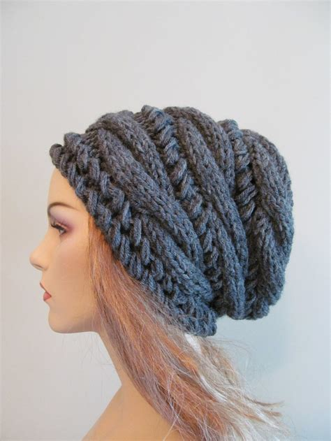 womens knit beanie slouchy beanie slouch hats oversized baggy cabled hat