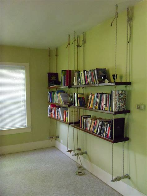 hanging wall bookshelves unique hanging bookshelves wall that worth to own homesfeed