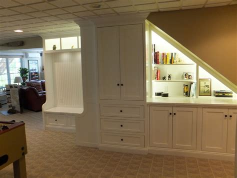 cabinets for basement stairs cabinet traditional basement manchester