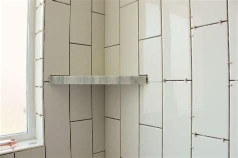 bathroom shelves corner how to install a tile shower corner shelf