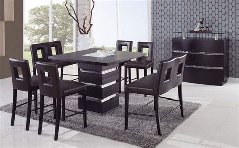 unique dining table sets unique sqaure wood and frosted glass top leather modern