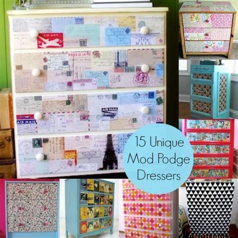 decoupage laminate furniture decoupage a dresser 15 unique ideas coloring comic