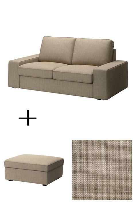 ikea ottoman cover ikea kivik 2 seat sofa and footstool slipcovers loveseat