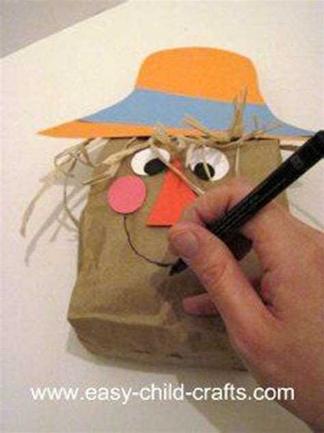 scarecrow paper bag craft 48 awesome fall crafts for