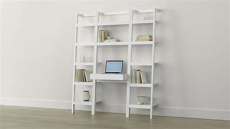 white desk with bookshelf sawyer white leaning desk with two 18 quot bookcases crate