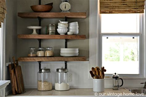 rustic kitchen shelving ideas our vintage home reclaimed wood kitchen shelving