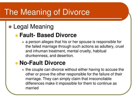 the definition of ppt coming apart separation and divorce powerpoint