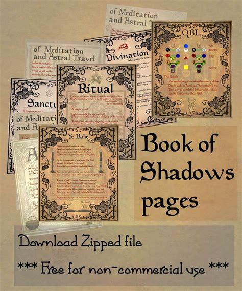 book of shadows pictures book of shadows 05 compendium by sandgroan on deviantart