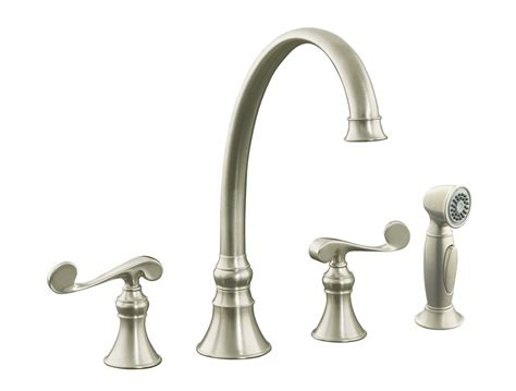 nickel faucets kitchen kohler revival kitchen faucet brushed nickel
