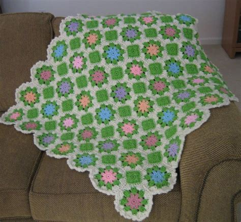 multi colored afghan knitting pattern pastel multi colored floral afghan favecrafts
