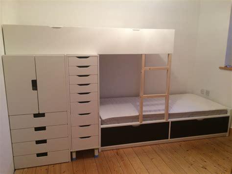 ikea hack loft bed flaxa bunk bed with lots of storage ikea hackers