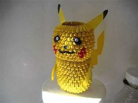 how to make a 3d origami pikachu 3d origami pikachu