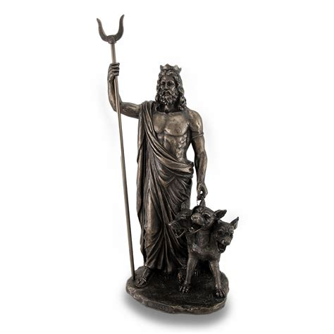 god statue zeckos god of the underworld hades bronze finished