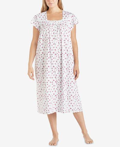 plus size cotton knit nightgowns eileen west plus size printed cotton knit ballet length