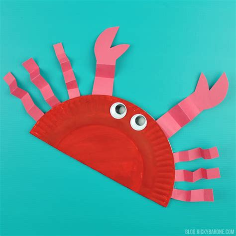crafts for to do diy paper plate crab barone
