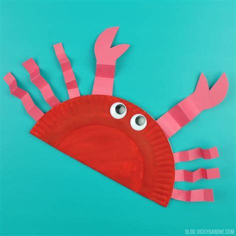paper plate crab craft crab paper plate craft craftbnb