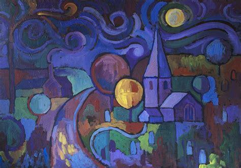 acrylic painting moonlight buy original by robert hofherr acrylic painting