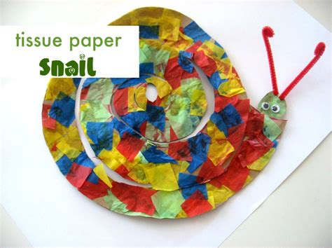 tissue paper crafts for preschoolers snail craft no time for flash cards