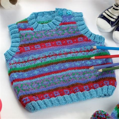 fair isle vest knitting patterns oscar and oliver the in your will look