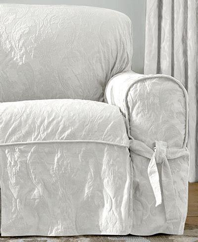 matelasse sofa slipcovers sure fit matelasse damask 1 sofa slipcover