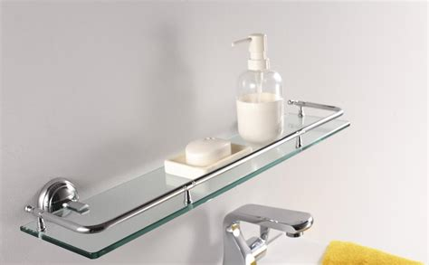 glass shelving bathroom glass shelf bathroom decor