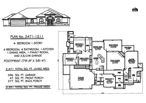 one story house plans with 4 bedrooms 4 bedroom one story house plans marceladick
