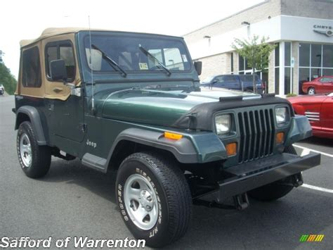 paint colors for jeep wranglers 1994 green metallic jeep wrangler s 4x4 17200510