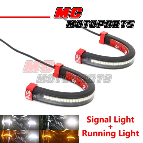 fork lights led front fork light turn signal running indicator for