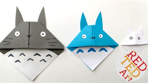 simple origami bookmark easy totoro bookmark origami paper crafts pinteres