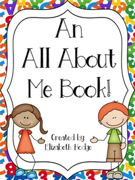 all about me picture books an all about me book by elizabeth hodge teachers pay