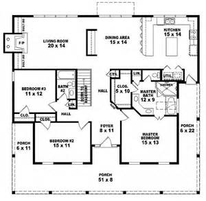 1 floor 3 bedroom house plans 654173 one story 3 bedroom 2 bath country style house