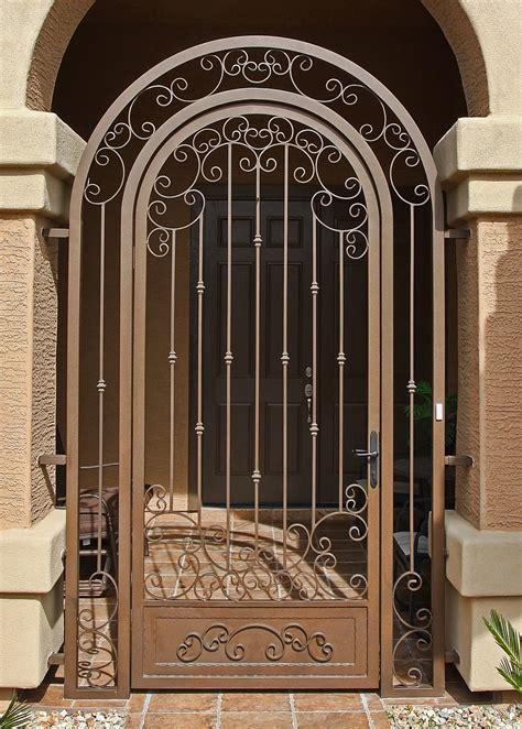 front door iron gates impression security doors gilbert az 85233