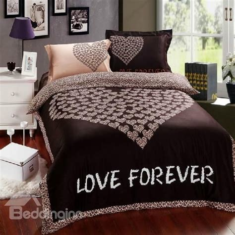 size comforter and sheet set 85 79 100 cotton print brown bedding sets 4