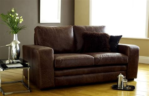 leather sofa beds 3 seater sofa bed brown modern leather sofabed leather