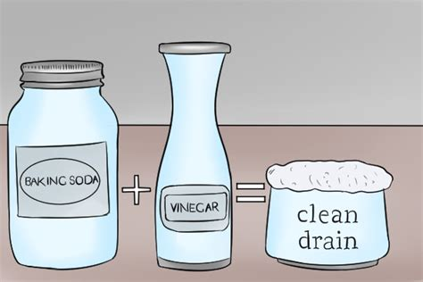 unclog kitchen sink vinegar baking soda how to unclog a drain with baking soda unclogadrain