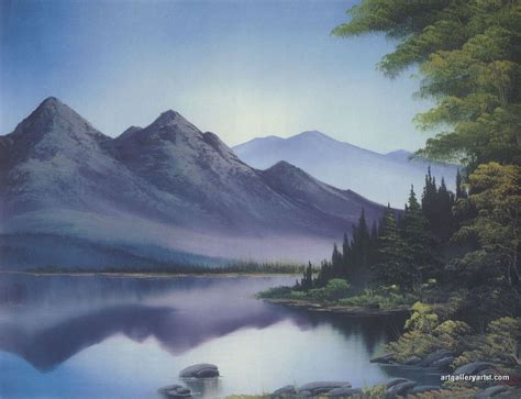 bob ross painting reflections pin gallery bob ross on