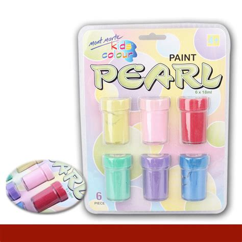 acrylic paint and canvas supplies 6 colors set pearlescent pigments wall painting