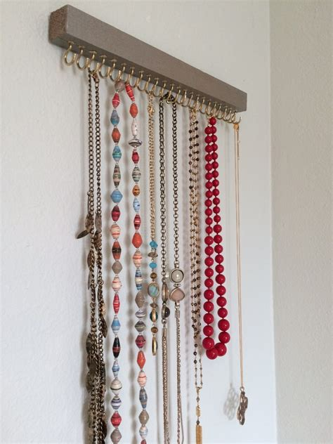 how to make a jewelry holder cheap and practical necklace holders you can make yourself