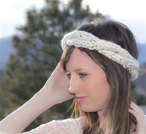 how to knit a simple headband cabled crown knit headband pattern in a stitch